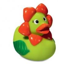 Quietsche-Ente Blume - hellgrün