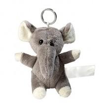Plüsch Schlüsselanhänger Elefant - grau