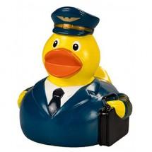 Quietsche-Ente Pilot - blau