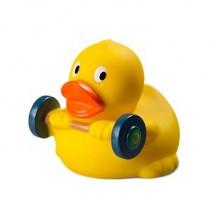Quietsche-Ente Gewichtheber - gelb