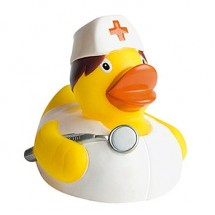 Quietsche-Ente Krankenschwester - gelb