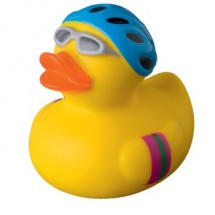 Quietsche-Ente Radfahrer - gelb
