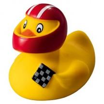 Quietsche-Ente Rennfahrer - gelb