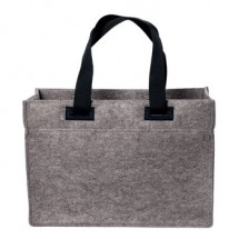 Polyesterfilz Shopper mit pull-out - anthrazit