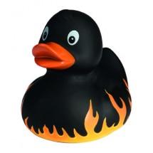 Quietsche-Ente Flamme - schwarz