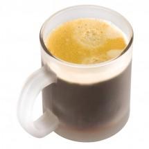 Kaffeetasse weiß gefrostet - transparent