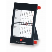 Kunststoff-Tischkalender '1-sprachig'-grau
