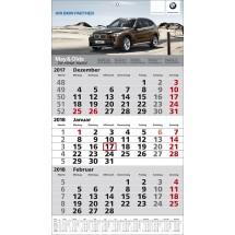 1-Block-Wandkalender 1Plus  '1-sprachig'-schwarz