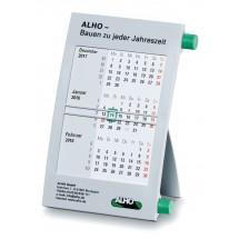 Kunststoff-Tischkalender '6-sprachig'-grau