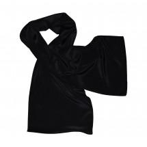 Schal, Reine Seide Crêpe de Chine, uni ca. 27x150 cm - schwarz