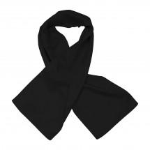 Schal, Polyester Twill, uni, ca. 27x150 cm - schwarz