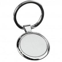 Metall-Schlüsselanhänger - grau