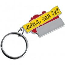 Schlüsselanhänger Call me!!! - rot
