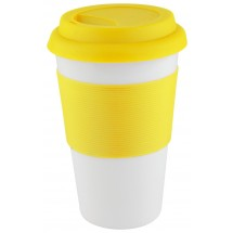 """Coffee-To-Go-Becher """"Soft Touch"""" - gelb"""