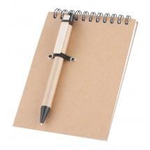Notizheft mit Kugelschreiber ''Concern'' - natur