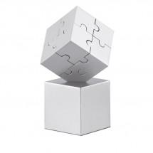 3D-Puzzle KUBZLE - silber matt