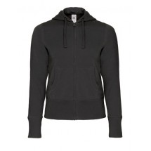 Hooded Full Zip Sweat / Women - Black