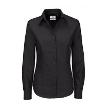 Oxford Shirt Long Sleeve / Women - Black