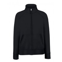Lady-Fit Premium Sweat Jacket - Black