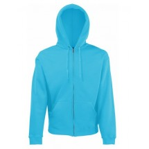 Classic Hooded Sweat Jacket - Azure Blue