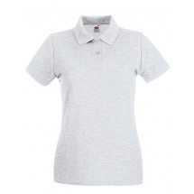 Lady-Fit Premium Polo - Ash (Heather)