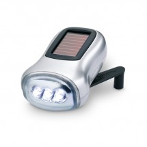 Dynamo Taschenlampe DYNASOL - silber matt