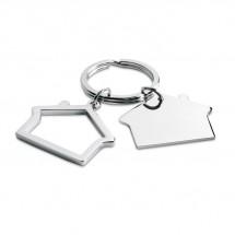 Schlüsselring Haus SNIPER - silber glänzend