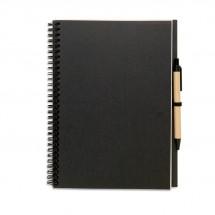 Recyceltes Notizbuch BLOQUERO PLUS - schwarz