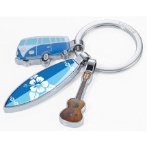 Schlüsselanhänger SURFMATE T1 - mehrfarbig, blau, silber