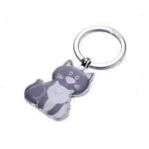 Schlüsselanhänger CAT & KITTY - dunkelgrau, hellgrau
