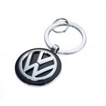 Schlüsselanhänger VW VOLKSWAGEN KEYRING - silber, schwarz