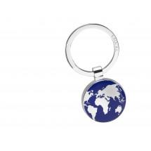 Schlüsselanhänger AROUND THE WORLD - blau, silber