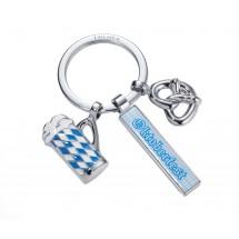 """Schlüsselanhänger """"OKTOBERFEST"""" - blau, weiß, silber"""