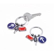 Schlüsselanhänger ON THE ROAD - mehrfarbig