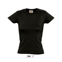 Organic Cotton Women T-Shirt - Deep Black