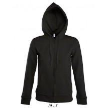 Women Hooded Zipped Jacket Seven - Black