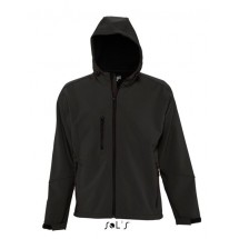 Hooded Softshell Jacket Replay - Black