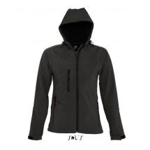 Womens Hooded Softshell Jacket Replay - Black
