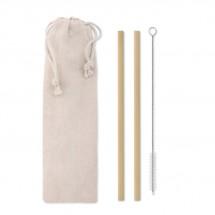 Bambus Trinkhalme-Set NATURAL STRAW - beige