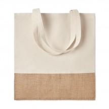 Einkaufstasche mit Jutebesatz INDIA TOTE - beige