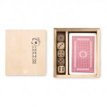 Spielkarten-Würfel-Set LAS VEGAS - holzfarben