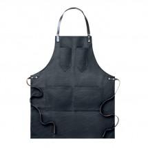 Kochschürze Leder CHEF - schwarz