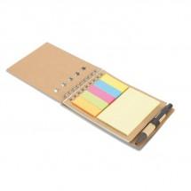 Notizbuch mit Klebezetteln MULTIBOOK - beige