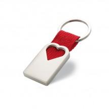 Schlüsselanhänger Herz BONHEUR - rot