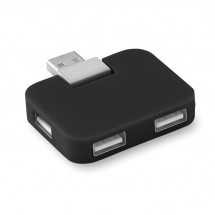4 Port USB Hub SQUARE - schwarz