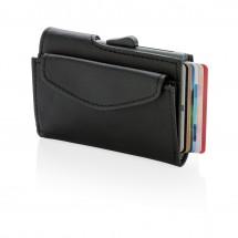 C-Secure RFID Kartenhalter mit Münzfach, schwarz
