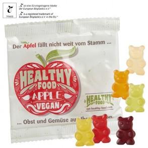 Vegane* XXL-Bärchen in kompostierbarem Werbetütchen