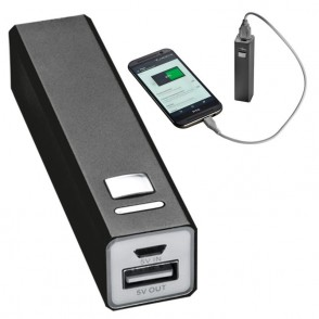 Powerbank metall, inkl. Ladekabel