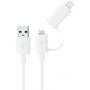 2-in-1 Micro USB Kabel mit MFI iPhone 5/6 Adapteraufsatz