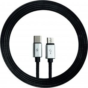 2-in-1 Micro / Type C cable Textil